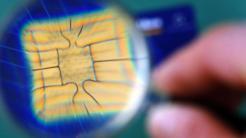 Speicherchip auf Kreditkarte