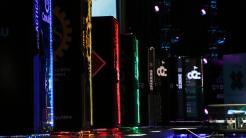 Rechnerschränke verschiedenfarbig beleuchtet
