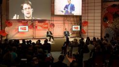 Edward Snowden auf der Cebit