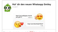 """WhatsApp-Kettenbrief: """"Bewegliche Emojis"""" locken in Abofalle"""