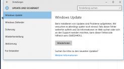 Windows 10: Update-Probleme nach August-Update