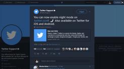 Twitter-Website mit Nachtmodus
