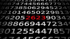 Zahlen, bitte! 2623  ....