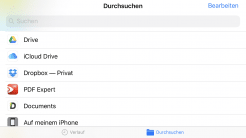 Apples Dateien-App