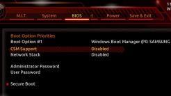 UEFI-BIOS mit CSM