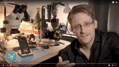 Edward Snowden stellt Haven-App vor.