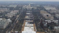 National Mall, Washington, am Tag der Angeloung Donald Trumps