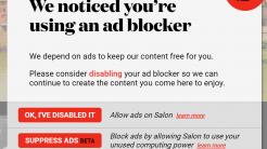 Salon: Ad-Blocking deaktivieren oder Rechenleistung für Crypto-Mining
