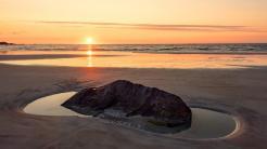 Sonnenuntergang, Küstenlandschaft