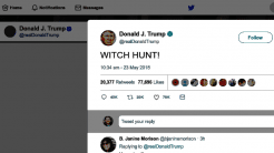 "Trump-Tweet ""WITCH HUNT!"""