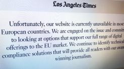 DSGVO: US-Nachrichtenseiten sperren Europäer aus