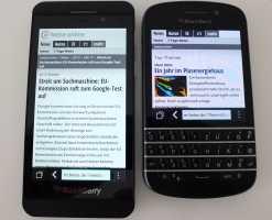 Blackberry Z10 und Q10