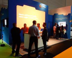 Mozilla war auch mit einem Stand in Köln und bewarb die Werbe-Kacheln im Firefox.