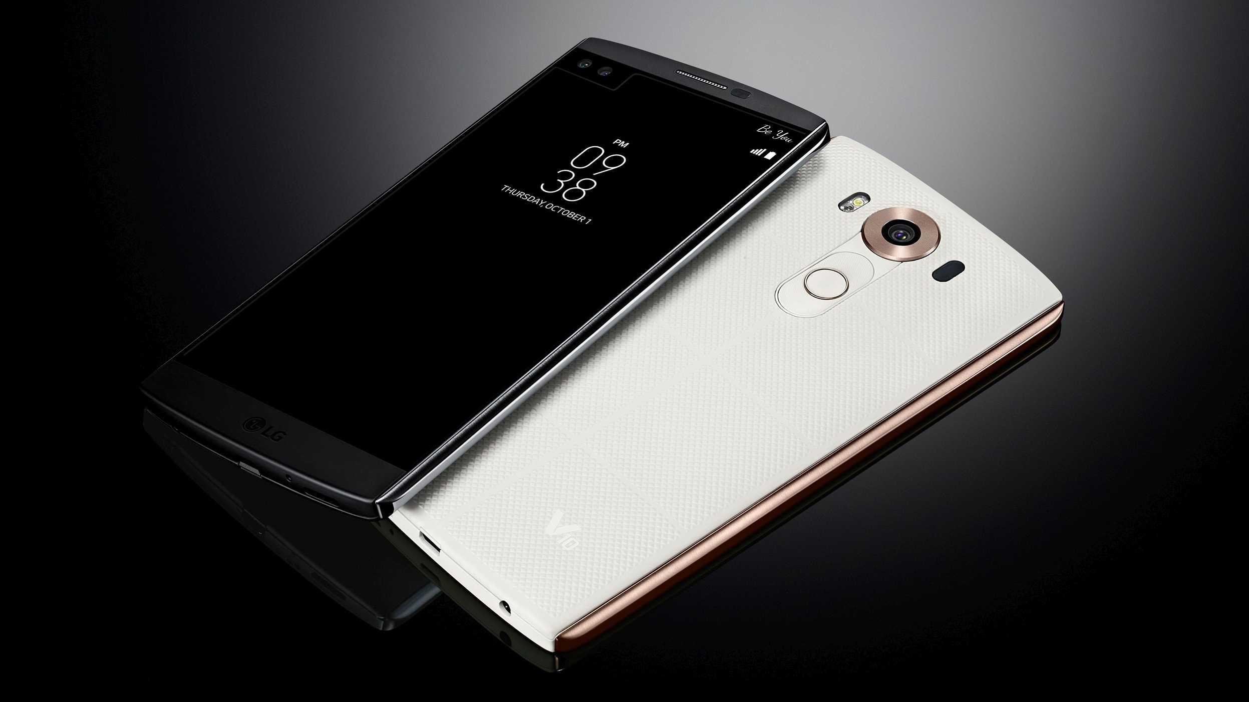 LG V10: Smartphone mit zwei Displays und drei Kameras