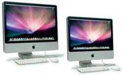 """Mit ihrer Form wirken die iMacs 20"""" und 24"""" äußerlich eher wie klassische Monitore im 4:3-Format."""