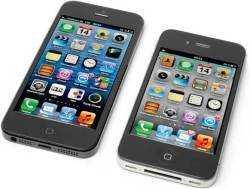 Das iPhone 5 (links) im Vergleich zum iPhone 4S