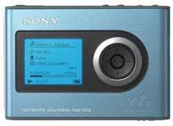 Der Walkman NW-HD3 in blau.