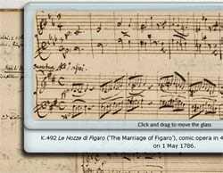 """Ausschnitt aus """"Verzeichnis aller meiner Werke"""" von Mozart"""