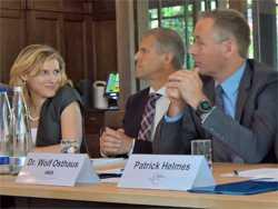 Erszebet Fitori, Martin Witt und Wolf Osthaus (v.l.) plädieren für eine langfristige Infrastrukturpolitik.