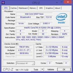 Im Akoya E7416 steckt ein Core i5 der fünften Generation.