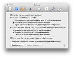 Bevor die E-Mails im lokalen Spamfilter des Nutzers landen, sortiert iCloud auch schon serverseitig aus
