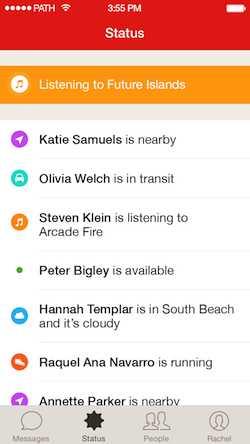 Path Talk zeigt automatisch Statusinformationen – wenn der Nutzer dies will