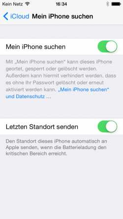 Neu in iOS 8: Das iPhone übermittelt bei niedrigem Akkustand den letzten Aufenthaltsort auf Wunsch automatisch