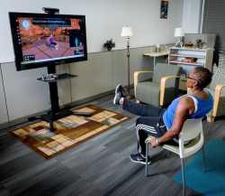 Hilft: Kinect soll Senioren beim Training helfen.