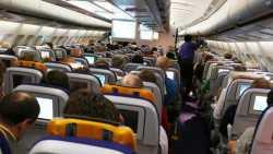 Fluggäste bei der Lufthansa