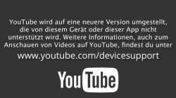 YouTube nicht mehr auf älteren Apple-TV- und iOS-Geräten