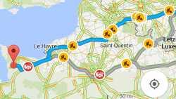Update: Google Maps warnt vor Staus und Baustellen