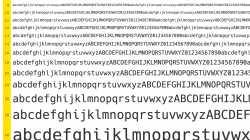 Fontmuster (Alphabet)