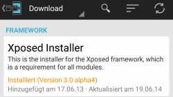 Android-Framework Xposed unterstützt Android 5.0 und 5.1