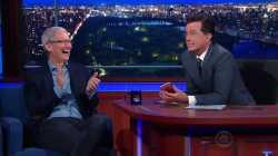 Tim Cook bei Late-Night-Talker Stephen Colbert