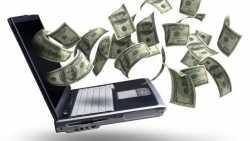 Laptop spuckt Geld aus