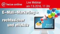 Live-Webinar: E-Mail-Marketing effektiv und rechtssicher betreiben