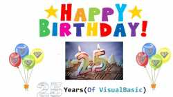 Visual Basic wird 25