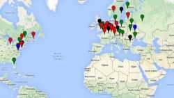 Europakarte mit bösen HSDirs