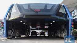 Portalbus: Chinas Transit Elevated Bus wird in Kleinserie gebaut