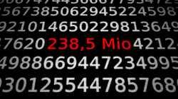 Zahlen, bitte! 238,5 Millionen Kilometer durchs All