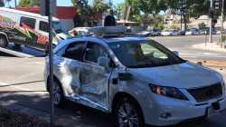 Autonomes Unfallopfer: Google-Auto wurde seitlich gerammt