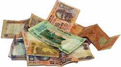 5- und 10-Rupien-Scheine