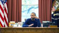Obama am Festnetztelefon