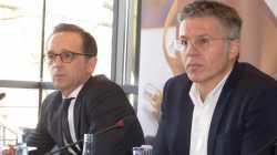 Heiko Maas (l.) und Bernhard Rohleder