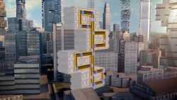 Testturm mit Aufzug ohne Seile