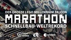 c't zockt LIVE: Lego Millennium Falcon Schnellbau-Weltrekord