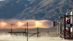 Darstellung einer Rakete im Flug