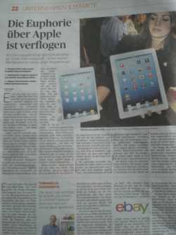Handelsblatt vom 25. Oktober 2012