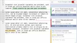 ShareLaTeX: Kommentare einfügen und Änderungen nachvollziehen