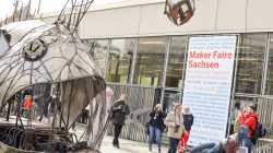 Maker_Faire_Sachsen 2017 Tiefseefisch neben der Stadthalle Chemnitz